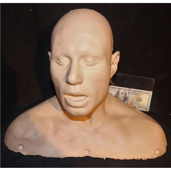 SILICONE FULL BUST BLANK CANVAS 1001 USES MASK WIG FORM MAKE UP AND HAIR PUNCH PRACTICE ETC