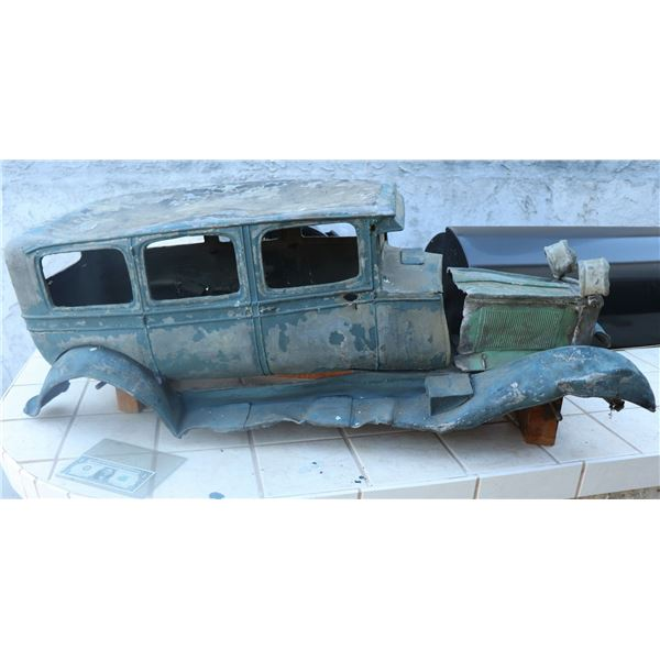 ZZ-CLEARANCE CAR ANTIQUE FILMING MINIATURE LEAD AND SHEET METAL LARGE SCALE