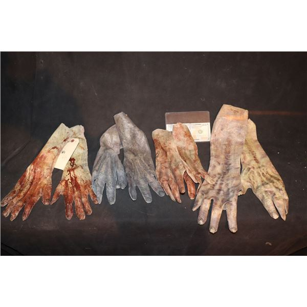 ARMY OF THE DEAD SCREEN USED ARM HANDS LOT OF 4 MATCHED PAIR 1