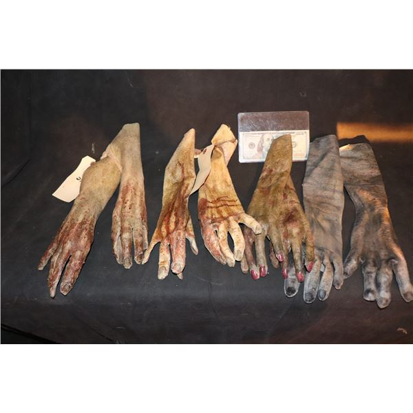 ARMY OF THE DEAD SCREEN USED ARM HANDS LOT OF 4 MATCHED PAIR 2