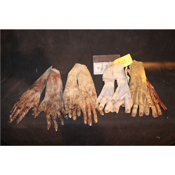 ARMY OF THE DEAD SCREEN USED ARM HANDS LOT OF 4 MATCHED PAIR 3