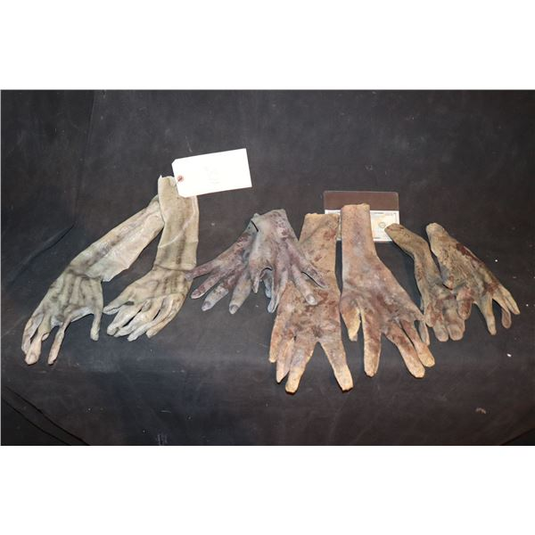 ARMY OF THE DEAD SCREEN USED ARM HANDS LOT OF 4 MATCHED PAIR 4