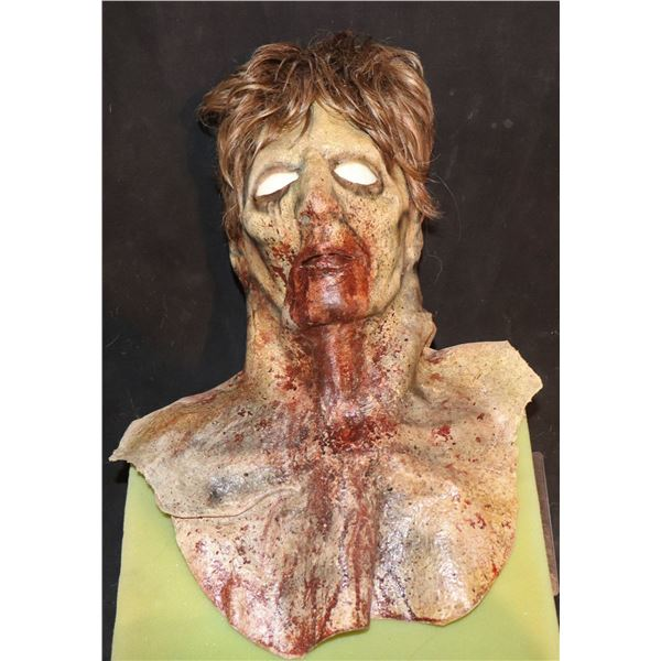 ARMY OF THE DEAD SCREEN USED FULL HEAD MASK WITH NECK 1