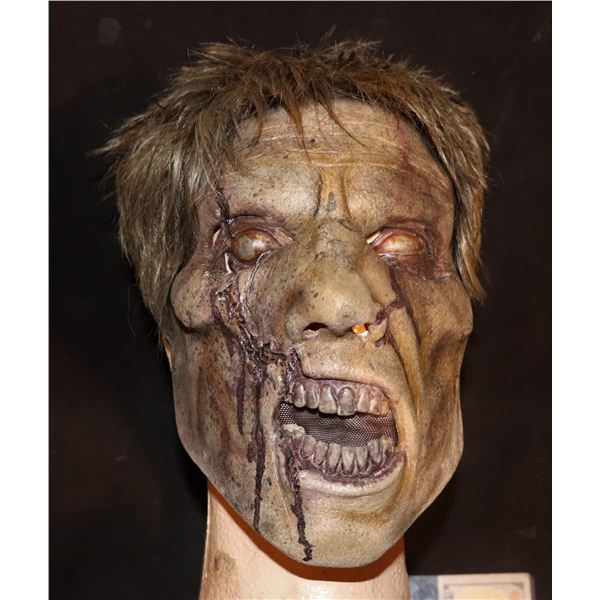 ARMY OF THE DEAD SCREEN USED LATEX FACE MASK WITH WIG 2