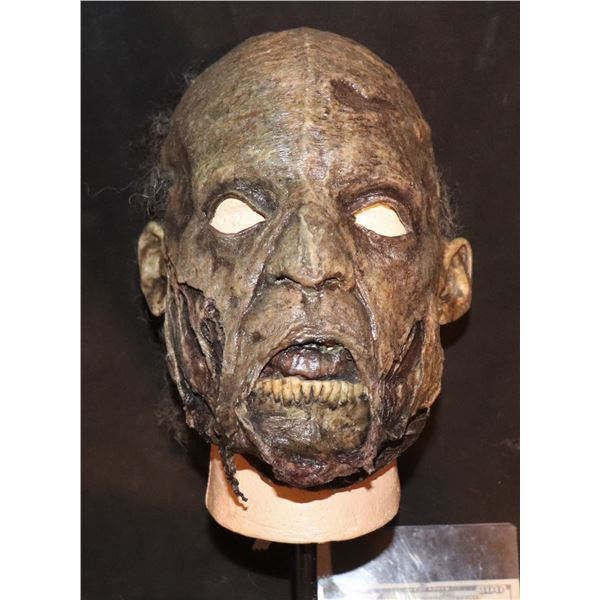 ARMY OF THE DEAD SCREEN USED LATEX FACE MASK WITH WIG 3