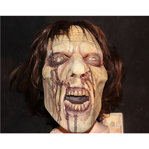 ARMY OF THE DEAD SCREEN USED LATEX FACE MASK WITH WIG 4