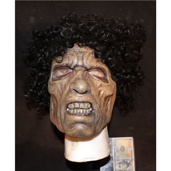 ARMY OF THE DEAD SCREEN USED LATEX FACE MASK WITH WIG 5