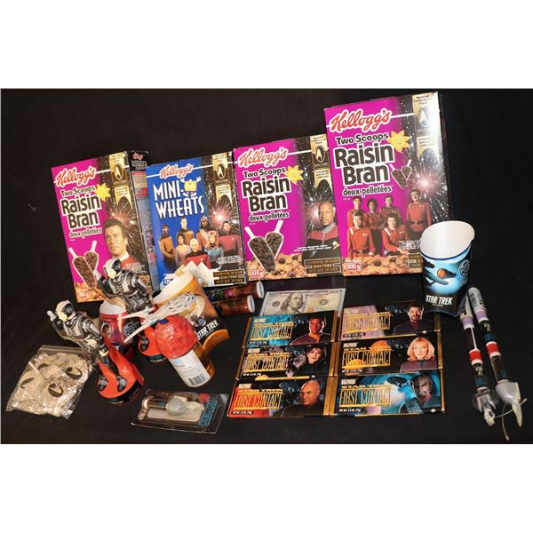 STAR TREK CANDY BARS, CEREAL BOXES, BUBBLE BATH, LIP BALM, FRIES COLLECTION