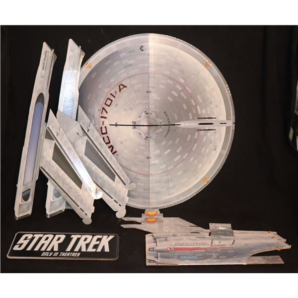 STAR TREK THE UNDISCOVERED COUNTRY ENTERPRISE A THEATER DISPLAY WITH PLAQUE