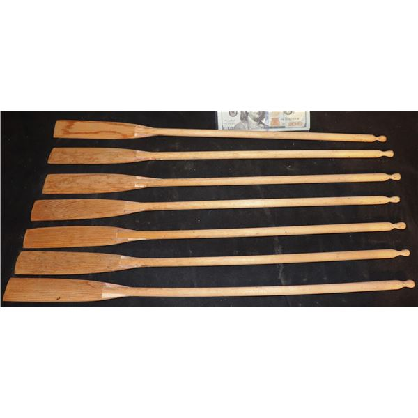 ZZ-CLEARANCE ANTIQUE WOODEN ROWING OARS 1930'S FILMING MINIATURES LOT OF 7