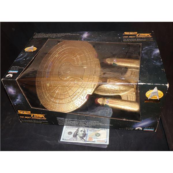 STAR TREK TNG GOLD ENTERPRISE MODEL TOY STILL SEALED IN BOX