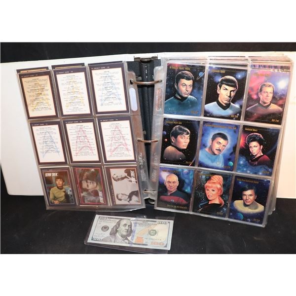 STAR TREK TRADING CARDS IN BINDER ALL SERIES