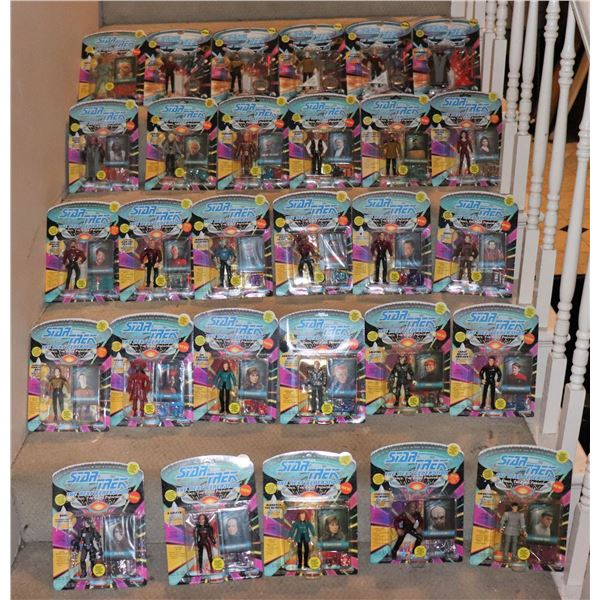 STAR TREK TNG ACTION FIGURES PLAYMATES YELLOW DOT LOT OF 29 W/ 17 UNPUNCHED