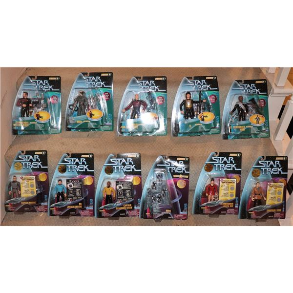STAR TREK ACTION FIGURES PLAYMATES SERIES 1 WITH VARIANTS LOT OF 11