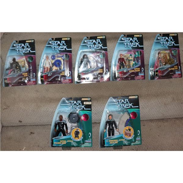 STAR TREK ACTION FIGURES PLAYMATES SERIES 2 WITH VARIANTS LOT OF 7