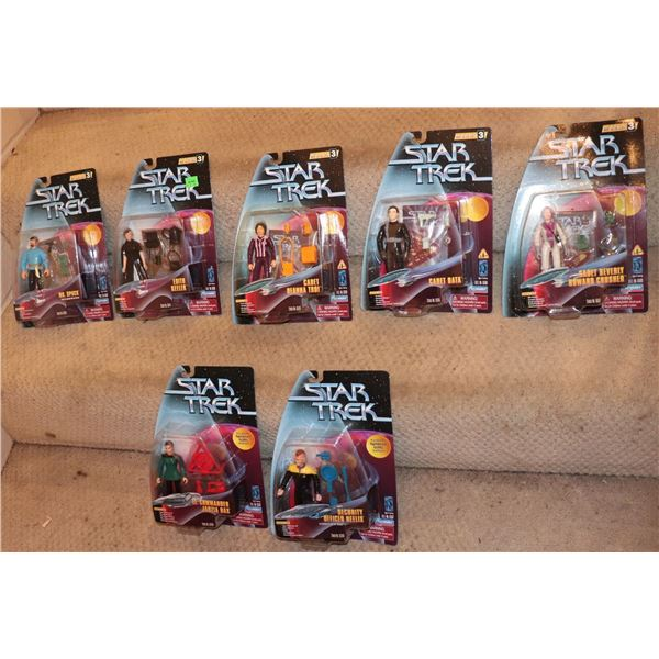 STAR TREK ACTION FIGURES PLAYMATES SERIES 3 WITH VARIANTS LOT OF 7