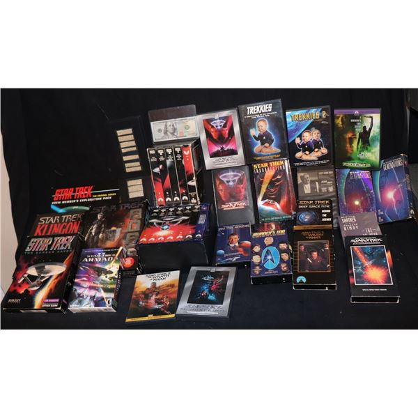 STAR TREK VINTAGE VIDEO GAMES, VIDEOS, & DVD's LOT