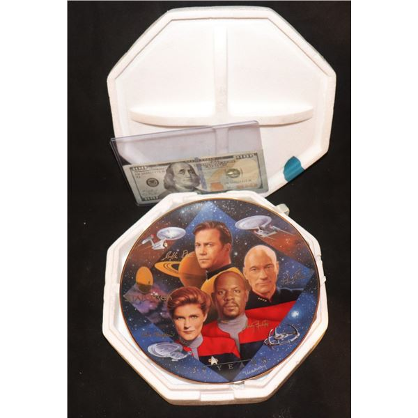 STAR TREK TOS TNG DS9 VOYAGER CAPYAIN'S COLLECTOR PLATE