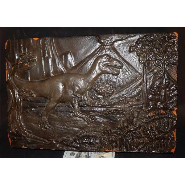 GODZILLA TYRANNOSAURUS REX SCULPTURE SEEN IN MUSEUM