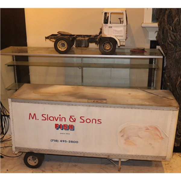 GODZILLA FISH DELIVERY TRUCK SCREEN MATCHED LARGE SCALE MINIATURE MOSTLY METAL