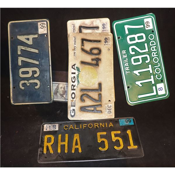 LICENSE PLATES FROM 90's OR PERIOD FILMS USED IN SEVERAL PRODUCTIONS