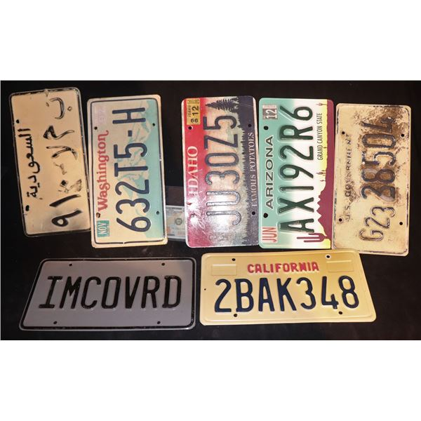 LICENSE PLATES FROM 2000's OR PERIOD FILMS USED IN SEVERAL PRODUCTIONS