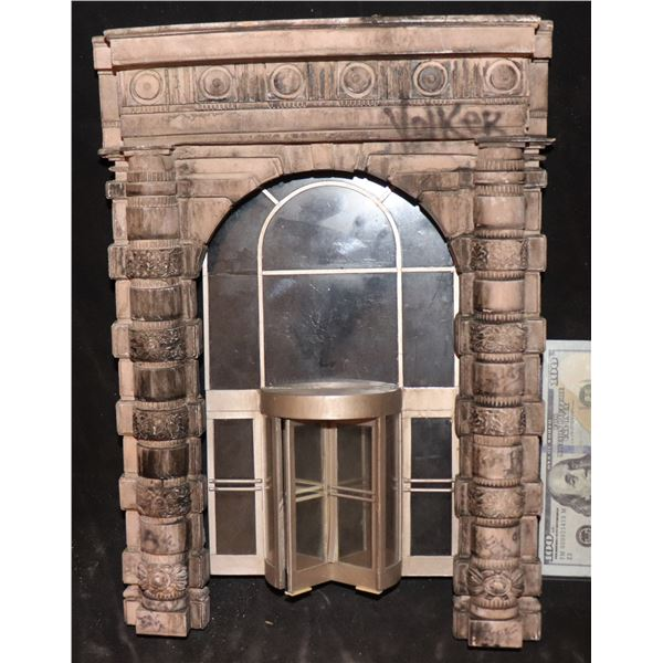 GODZILLA FLATIRON BUILDING REVOLVING DOORWAY WITH ARCH SECTION SCREEN USED