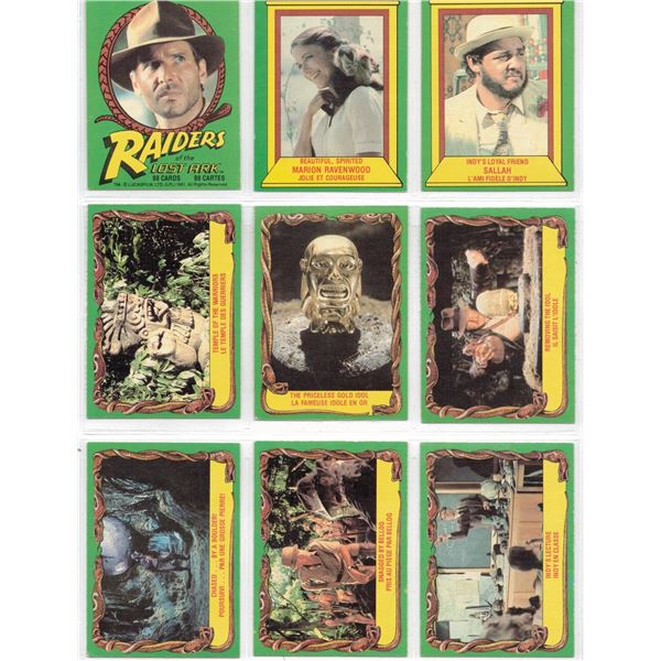 THIRTY ONE cards - Raiders of the Lost Ark Lucas Film 1981