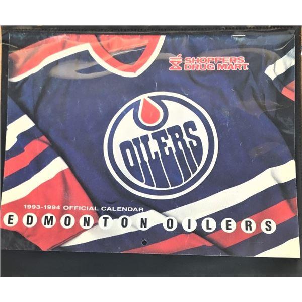 1993 - 1994 Edmonton Oilers Events Calendar from Shopper's Drug Mart