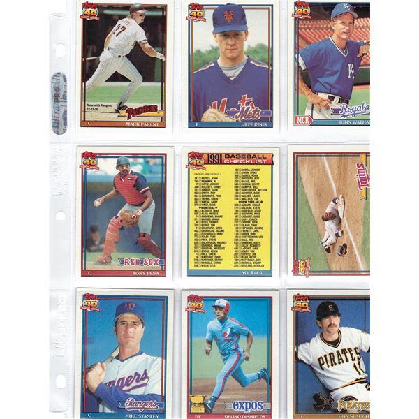 Baseball Cards - NINE Cards Topps 40 Years of Baseball
