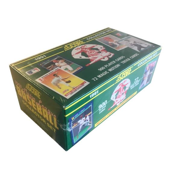 900 Baseball Cards NEVER OPENED , Box is wrapped in original plastic  1991 Score Collector Set