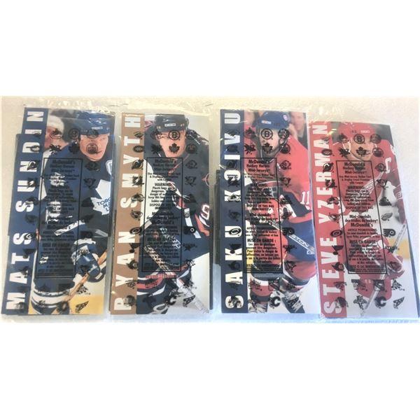 FOUR 2003 McDonalds Hockey Heroes Mini Jerseys In Original Packaging - Smyth, Koivu, Sundin, Yzerman