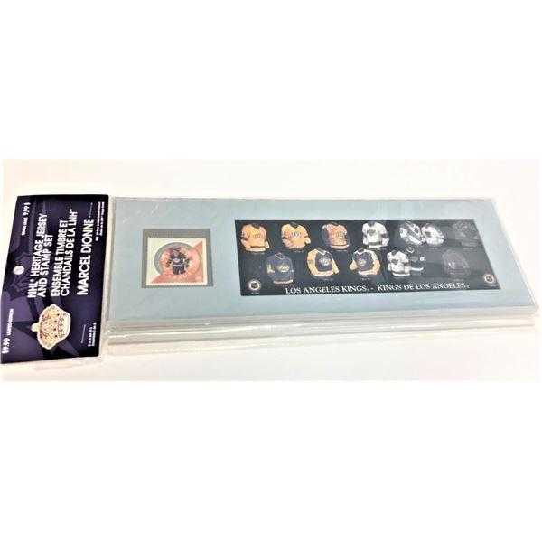 NHL Heritage Jersey & Stamp Set LA Kings