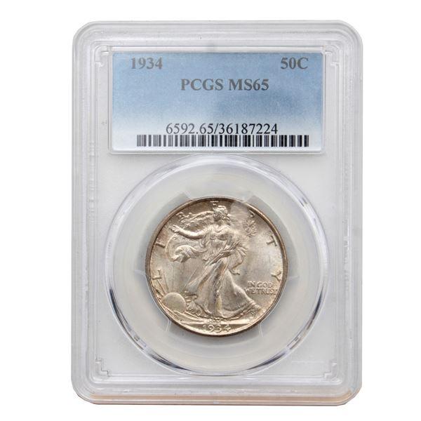 USA Half Dollar 1934 PCGS Certified MS-65