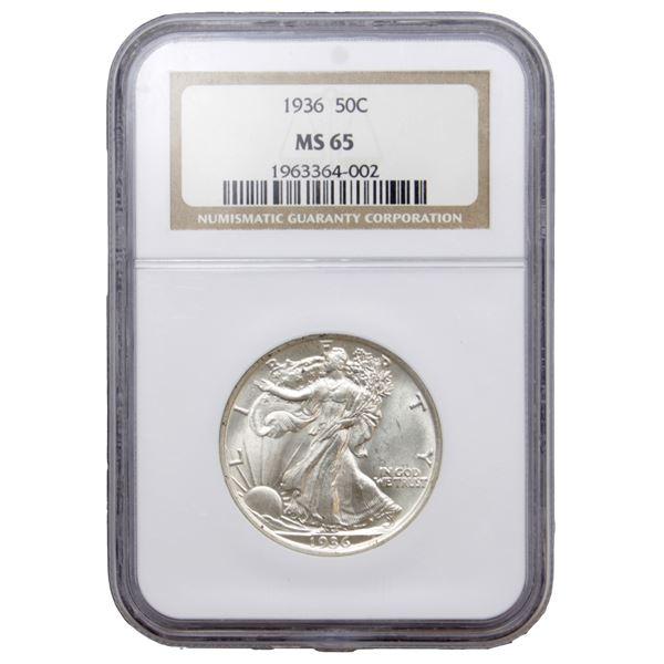 USA Half Dollar 1936 NGC Certified MS-65