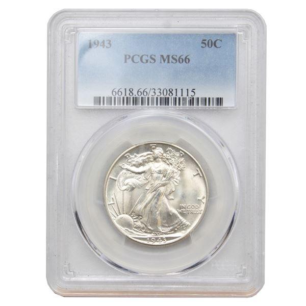 USA Half Dollar 1943 PCGS Certified MS-66