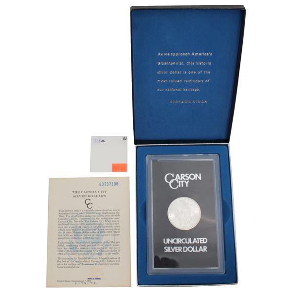 USA Silver Morgan $1 1883-CC $1 GSA Hoard Better Key Carson City Coin Box/Cert Brilliant Uncirculate