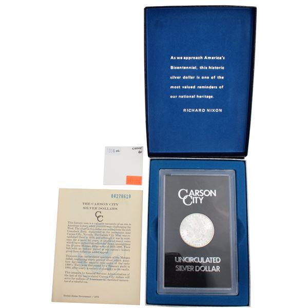 USA Silver Morgan $1 1884-CC GSA Hoard Better Key Carson City Coin Box/Cert Choice Brilliant Uncircu