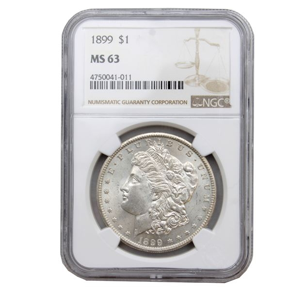 USA Silver Morgan $1 1899  NGC Certified MS-63