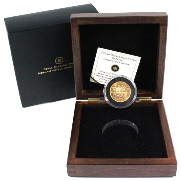 1913 Canada $10 Premium Hand-Selected - Canada's First Gold Coins. Contains 0.484oz fine gold.