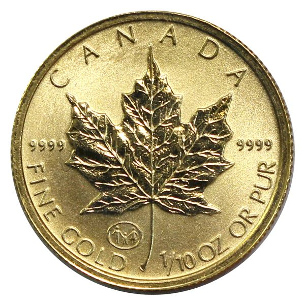 1997 Canada $5 1/10th oz Gold Maple 'Family' Privy Mark Still Sealed in Original Mint Pliofilm. *Sca