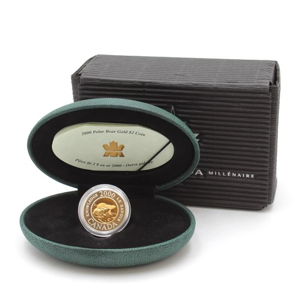 2000 $2 Knowledge Commemorative Fine Silver Coin with 22KT Gold Centre. Mintage of 5881.