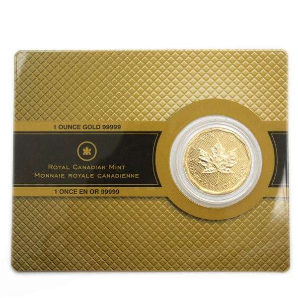 2009 1oz 5 9's Special Edition Gold Maple Leaf Sealed in Original Mint Card. The worlds most Pure go