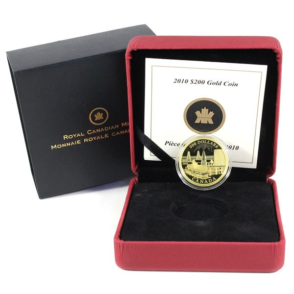 2010 $200 Petroleum and Oil Trade 22K Gold Coin. Mintage of 4000 coins. (.417ozt)
