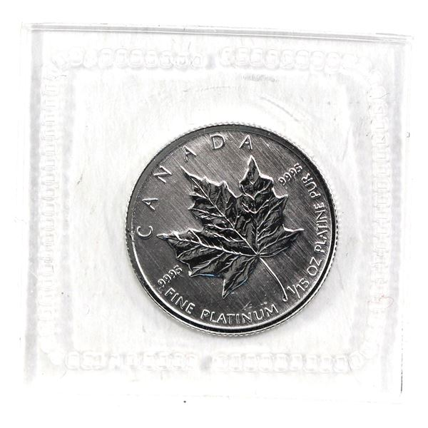 VERY RARE! 1994 $2 1/15oz .9995 Fine Platinum Maple Leaf Sealed in Original Plastic in Blue Display