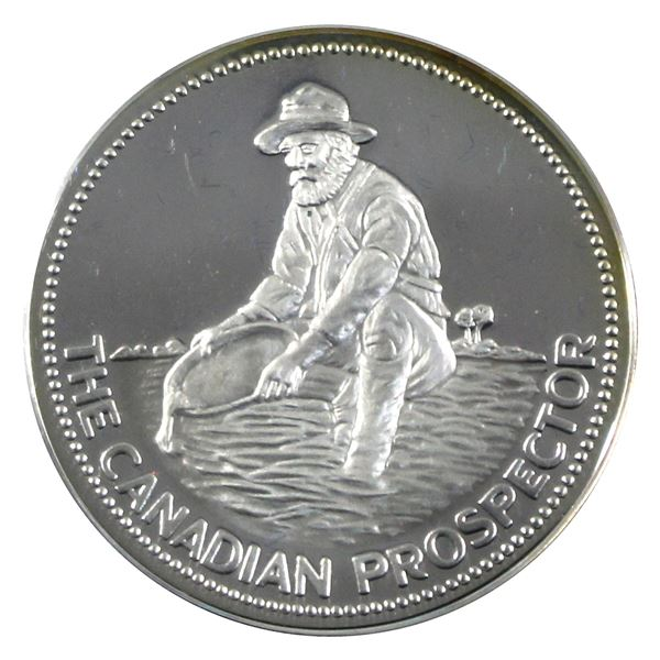 "Rare! Englehard 1oz Proof Silver ""The Canadian Prospector"" Round .999+ Fine. Featuring Prospector on"
