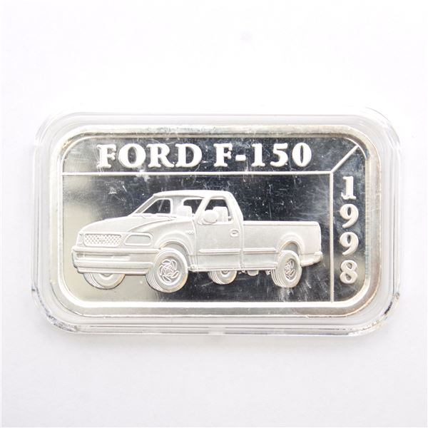 1998 Ford F-150 '50 Years' 1oz Fine Silver Promotional Bar with Proof Finish (Tax Exempt)