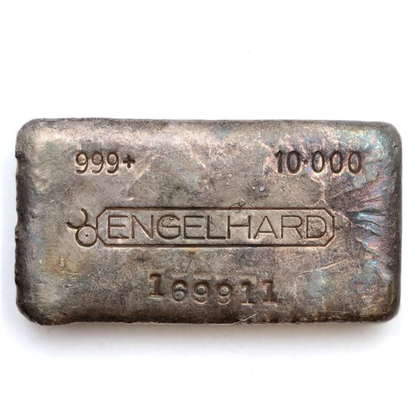 Engelhard 10oz '5th Series' Canadian Variation Fine Silver Bar (Tax Exempt) Serial # 169911.  Bar co