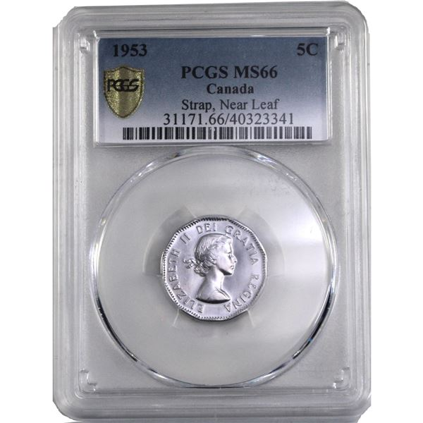5-cent 1953 SF NL PCGS Certified MS-66.