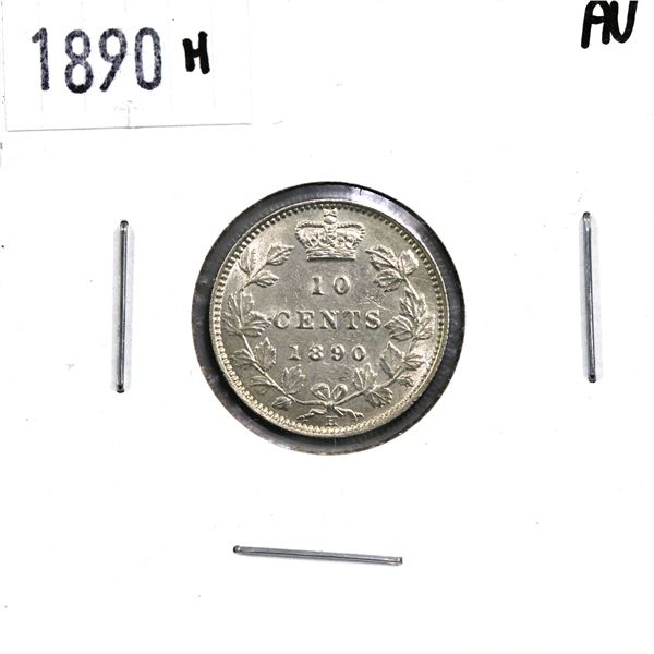 10-cent 1890H in AU Condition.